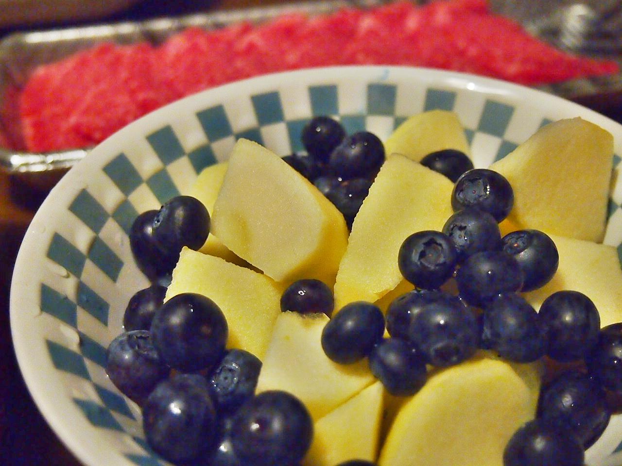 ブルーベリーとりんご