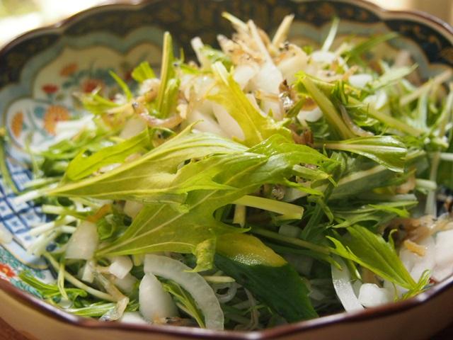 水菜カリカリサラダ