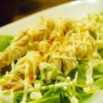 【食】麻婆豆腐茄子、鶏のササミサラダ