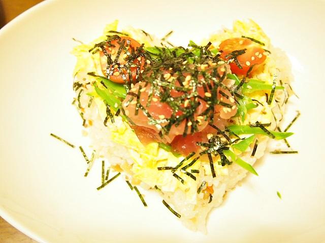ハートの散らし寿司