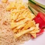【食】冷やし中華、餃子