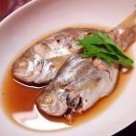 【食】豚肉のソテー、水菜のサラダ、うおぜの煮付