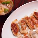【食】餃子、野菜炒め