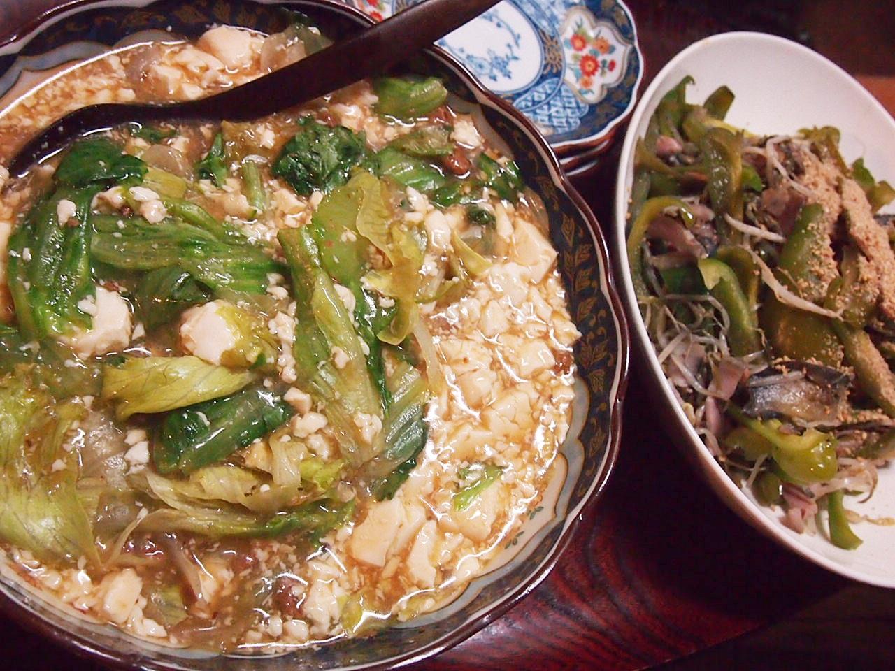 麻婆豆腐レタス