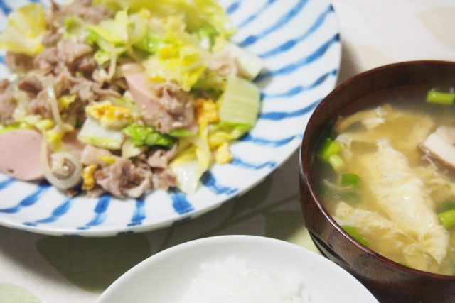 妊娠15週3日 野菜炒め