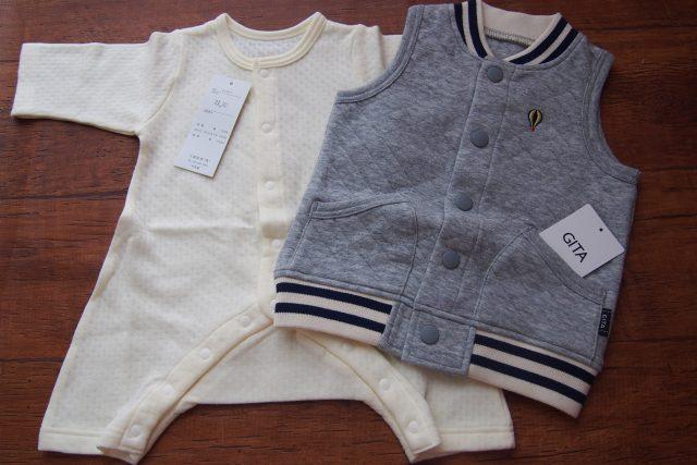 ベルメゾンの新生児服