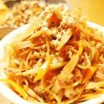 【食】お惣菜:ごぼうのきんぴら、ひじきの煮つけ