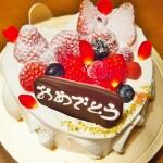 【食】おめでとうケーキとケーキ三昧の1日