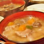 【食】豚汁とポークチャップ、豚肉にはまった日