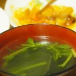 【食】お吸い物と酢豚