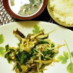 【食】GW最終日、きのこと野菜の炒め物