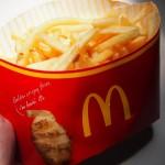 【食】期間限定、マックのメガポテト(昼食)
