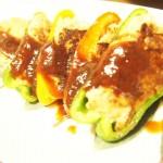 【食】ピーマンの肉詰め