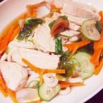 【食】サラダうどん、かつおのたたき