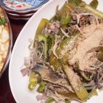 【食】手抜きピーマンとなすの炒め物、レタスたっぷり麻婆豆腐