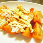【食】トマトカニカマのせ(夫が夕飯を作る)